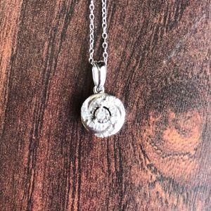Jewelry - STERLING SILVER DIAMOND SWIRL PENDANT